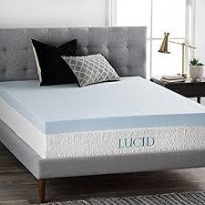 mattress foam topper. lucid 4 inch gel memory foam mattress topper - ventilated for optimum temperature queen