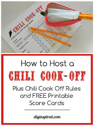 chili cook off judging sheet chili cook off rules and free score sheet diy inspired