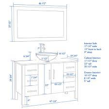 cabinet height new height bathroom vanity wonderful with vessel sink 14 standard