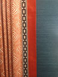 Living Room Curtains Drapes Drapery Panel With Banding And Flat Braid Trim Pinteres