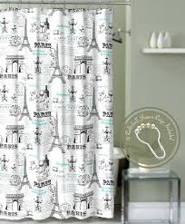 paris shower curtain crest home tower teal with roller ball hooks target paris shower curtain