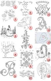 Free Hand Embroidery Patterns Simple Free Handembroidery Patterns Needle Work