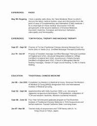 Acupuncture Resume Sample Lovely Inspirational Resume Examples For