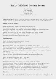 early childhood resume sample sample resume for graphic artist early years teacher cover letter examples resume samples early childhood education resume objective early years