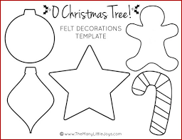 Printable Stencils For Kids Felt Christmas Tree For Kids With Printable Templates The Many