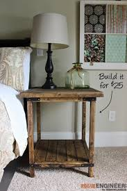 How to build a simple table 2x4 Diy Simple Square Bedside Table Plans Rogue Engineer Rogue Engineer Simple Square Side Table Free Diy Plans Rogue Engineer