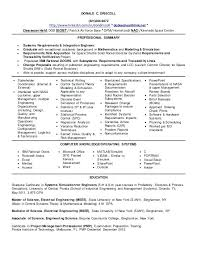 Control Systems Engineer Sample Resume Mesmerizing System Engineering Resume Examples Don Systems Engineer 40