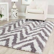 gray and white area rug chevron ivorygray 8 ft x 10 ft area rug black