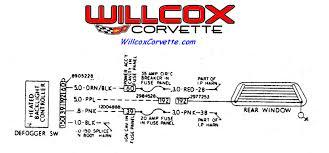 willcox corvette inc corvette repair install help 1981 corvette rear defrost schematic