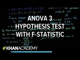 anova hypothesis test f statistic video khan academy