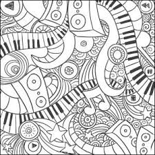Music Doodle Coloring Page Craft Haven Square 3 Free 2018 Adult