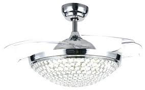 ceiling fan with clear retractable blades and light ceiling fan with folding blades retractable blade light ceiling fan