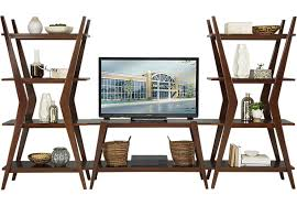 Small Picture Edina Cherry 3 Pc Wall Unit Wall Units Dark Wood
