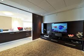 Dashing Home Theater Design With Big Theatre Closed Unique Entertainment Room Design
