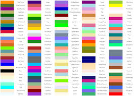 Html Color Chart With Names Maple Colors Mapleprimes
