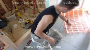 heated tile floors in bathrooms. radiant heated bathroom floor installation - how to do it from a z atlanta ga youtube tile floors in bathrooms