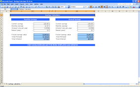savings excel spreadsheet savings calculator spreadsheet aljerer lotgd com