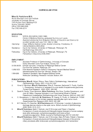 Curriculum Vitae Resume Examples Format Styles Formats