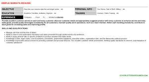 barista resume sample objective