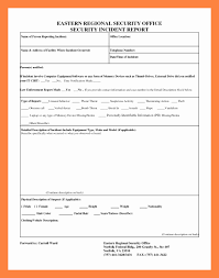 Security Incident Report Template Awesome Cyber Security