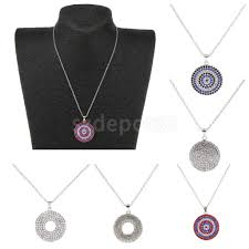 2019 las fashion rhinestone round disc pendant silver chain necklace choker from fair2016 22 83 dhgate com