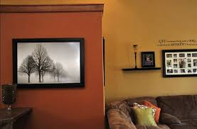 orange wall paintBurnt Orange Paint Color Accent Wall Contrasts  Homes Alternative