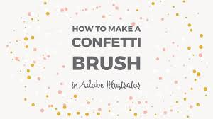 Confetti Brush Photoshop How To Make A Confetti Brush In Illustrator