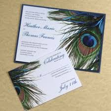 peacock invitations peacock wedding invitation gold teal aqua ribbon navy birthday