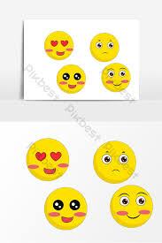 Hand Drawn Cartoon Yellow Smiley Face Graphic Elements