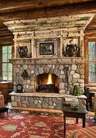 rustic river rock stone fireplace inspiration for the dream home walls39 fireplace