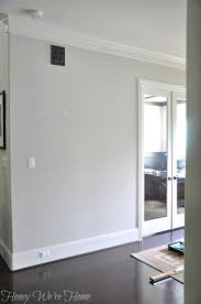 paper white paint colorRemodelaholic  Choosing Paint Colors that Work with Wood Trim and