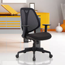 adjustable height chair. HOMCOM Office Swivel Chair Reclining Padded Seat Adjustable Height Medium Back