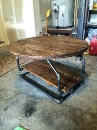 pipe leg coffee table pallet industrial legs