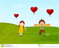kids valentines day background. Unique Kids Cute Little Kids Enjoying With Heart Shaped Balloons On Nature Background  Occasion Of Happy Valentines Day Celebration And Kids Background A