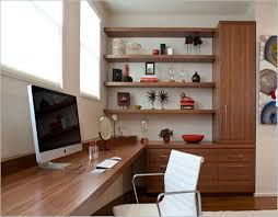 wooden office table. Office:Impressive Office Room Design With Long Wooden Table And White Chair Ideas