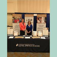 lss dean of academy counseling jane ferris and program director ellen honeck represent laurel springs at the 2018 cagcon
