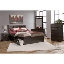 modern furniture wooden 6 piece full bedroom set in dark oak 5000