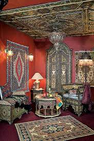Often Moroccan rugs with beautiful and exquisite designs cover Moroccan  furniture, tables and sofas, leading the eye down to the floor, decorated  with large ...