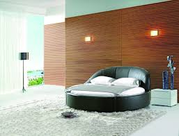 Circular Bed Soft Bed Modern Transitional Upholstered Beds In Eco Leather