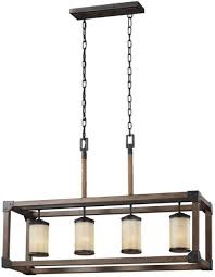 sea gull lighting 36 led 4 pendant light parchment glass shade w hanging chain