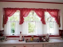 red kitchen curtain ideas