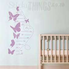 Butterfly Growth Chart Vinyl Decal Butterflies Growth Chart Stickers