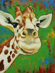 very excited painting abstract animal portrait oil painting on canvas abstract giraffe animal oil painting for wall decoration in painting calligraphy