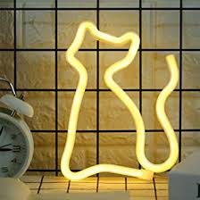 LED <b>Neon Cat</b> Light Signs Warm White <b>Cat Neon</b> Lights Wall Lamp ...