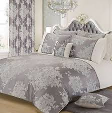 elegant duvet covers. Unique Elegant Image Is Loading SILVERGREYFLORALJACQUARDELEGANTDUVETCOVERSET For Elegant Duvet Covers