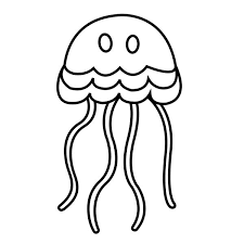 Small Picture simple cartoon jellyfish coloring page Download Print Online