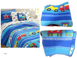 boys construction vehicles twin quilt sham bedding set