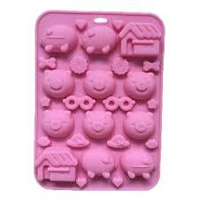 2017 Pig House Glasses Emoji Cute Cartoon Silicone Chocolate Cake Mold Soap  Mold Diy From Showercurtain 249  DhgateCom