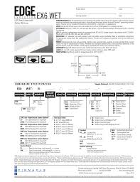 Pinnacle Architectural Lighting Edge Wet Ex6 Direct Pinnacle Architectural Lighting