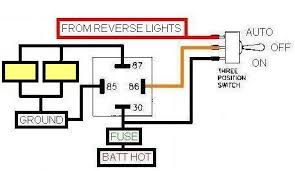 wiring up reverse lights jeepforum com heres a wiring diagram i used on my old s10 to do exactly what and baotchi walked about above using a three position switch and a relay